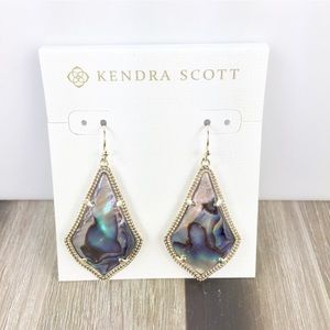 Kendra Scott Alex Abalone / Gold Earrings